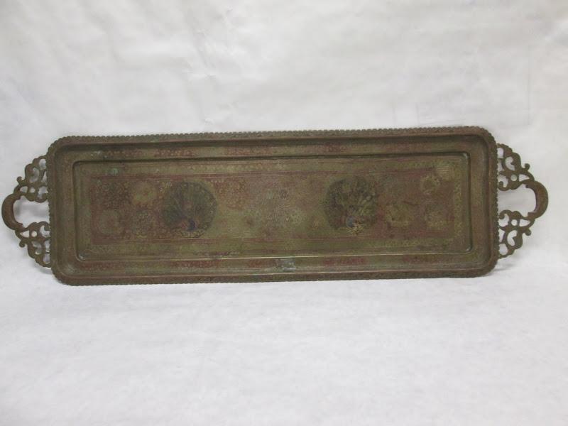 Brass Peacock Platter