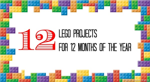 Lego Projects Calendar - 12 Lego Projects for 12 Months of the Year