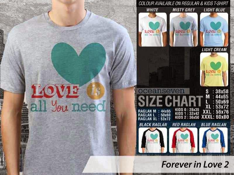 KAOS Pasangan Love is all you need |KAOS Forever in Love 2 distro ocean seven