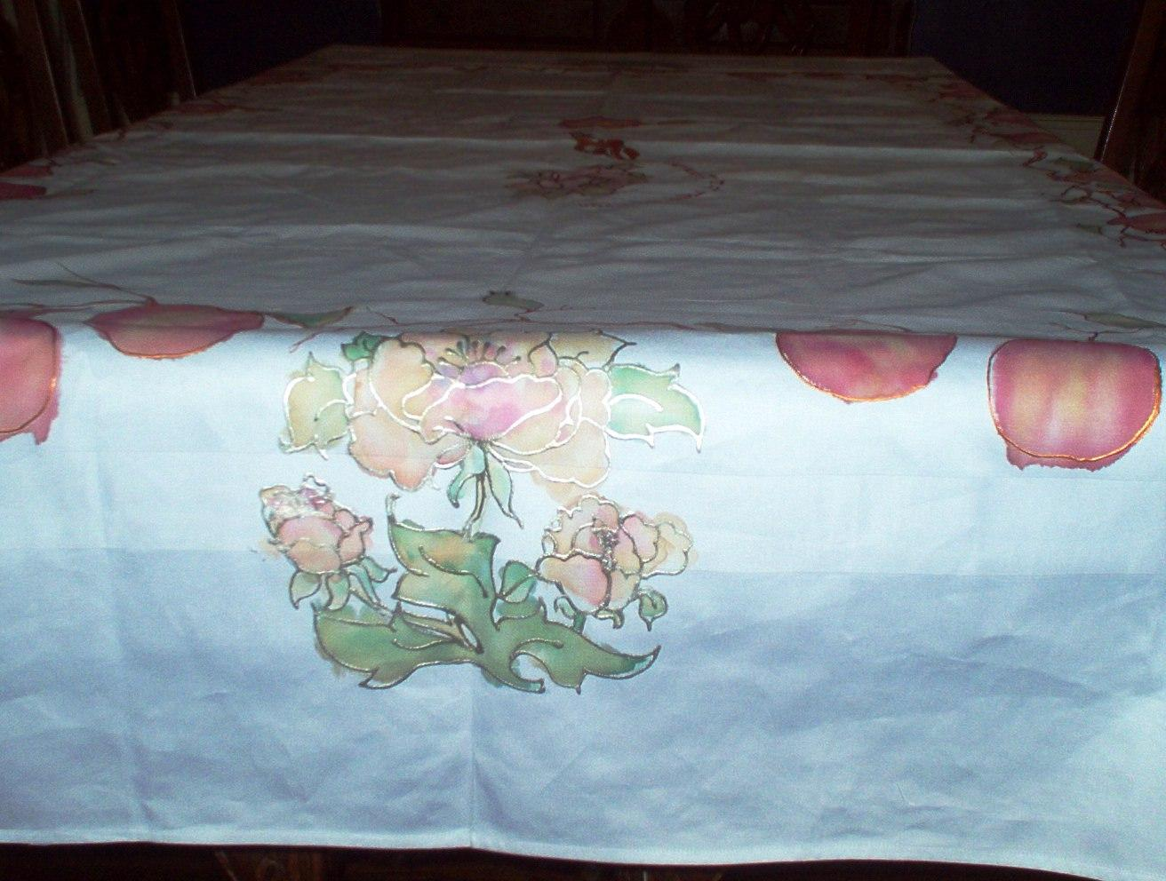 Tablecloth -Pink and Beige