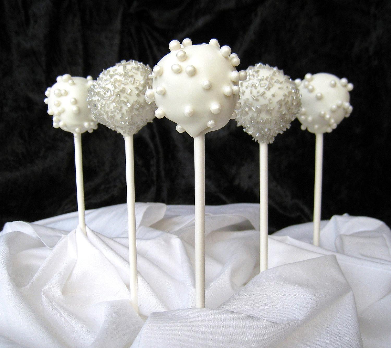 Wedding Cake Pops Centerpieces