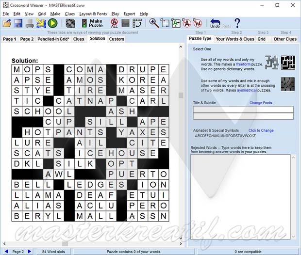 Crossword Weaver