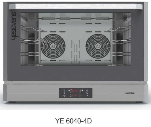 Alat Pemanggang Roti Konveksi Esensial Kapasitas Besar (Convection Oven Essential) : YE 6040-4D