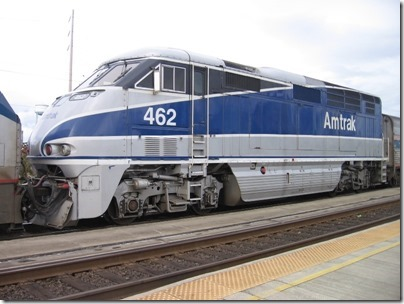 IMG_3897 Amtrak F59PHI #462 in Vancouver, Washington on October 4, 2008