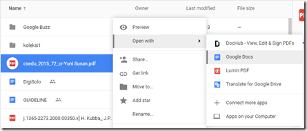 open with google docs