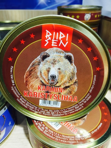 Finnish canned bear meat