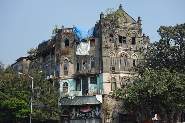 Many old Victorian buildings in Mumbai have fallen into disrepair.