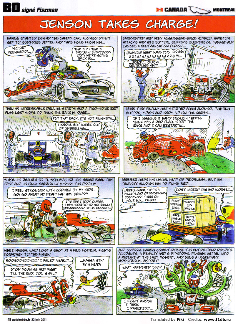 Fiszman's race-cartoons on 2011 Canadian GP in English