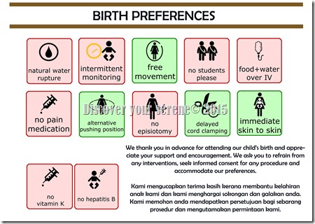 BIRTH PREFERENCES KINA VISUAL