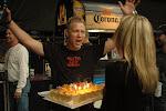 brief pause for Nick's birthday cake