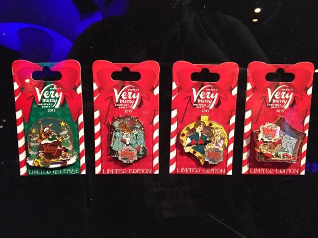 2015 mickeys very merry christmas pins - Disney Christmas Party 2015