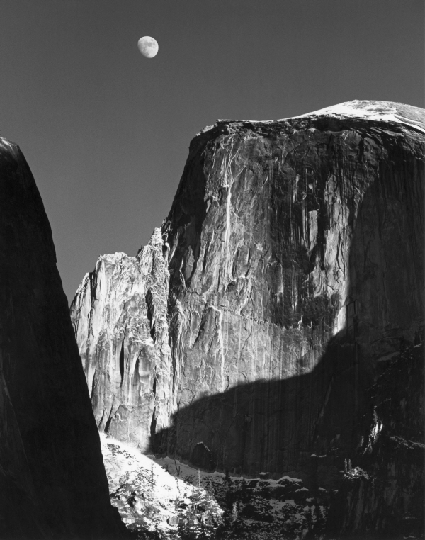 더스트림_Ansel Adams, Moon and Half Dome, Yosemite National Park, California, 1960.jpg