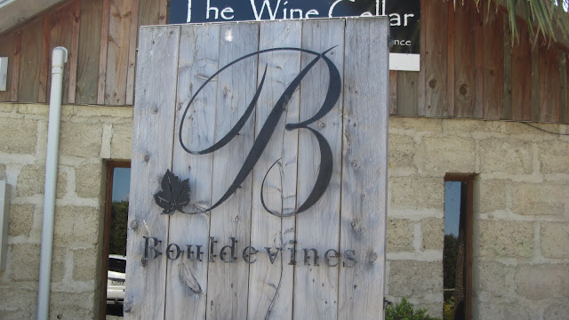 Bouldevines - conveniently located at our lunch stop.
