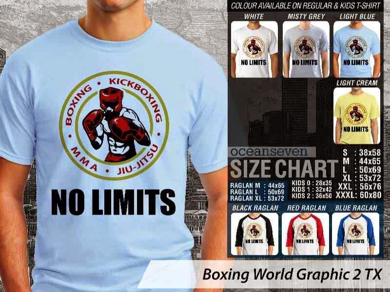 Kaos Olah Raga Sport Boxing World Graphic 2 distro ocean seven