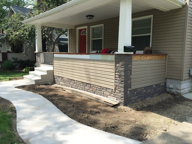 Porch Siding and Faux Stone Panels 3