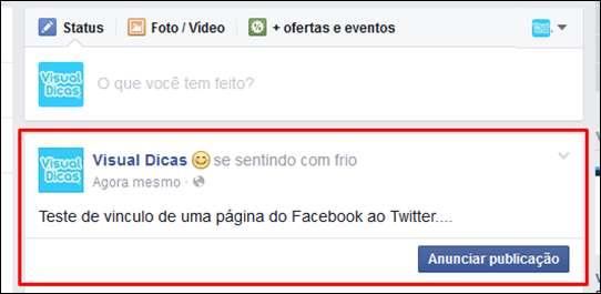 Como publicar posts do Facebook no Twitter - Visual Dicas