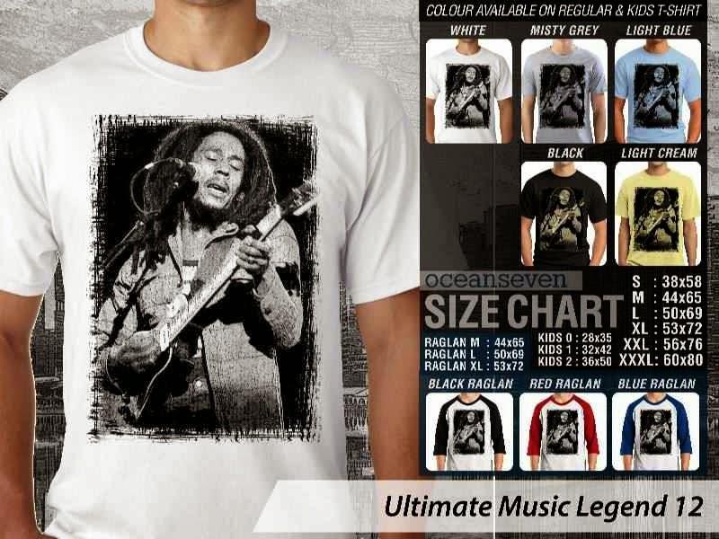 Kaos Bob Marley Legenda Musik 12 distro ocean seven