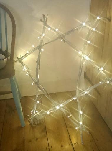 Twig advent light star