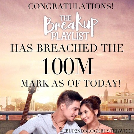 The Breakup Playlist reaches P100M mark