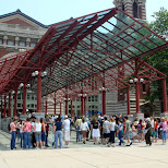 ellis island entrance gate in New York City, New York, United States