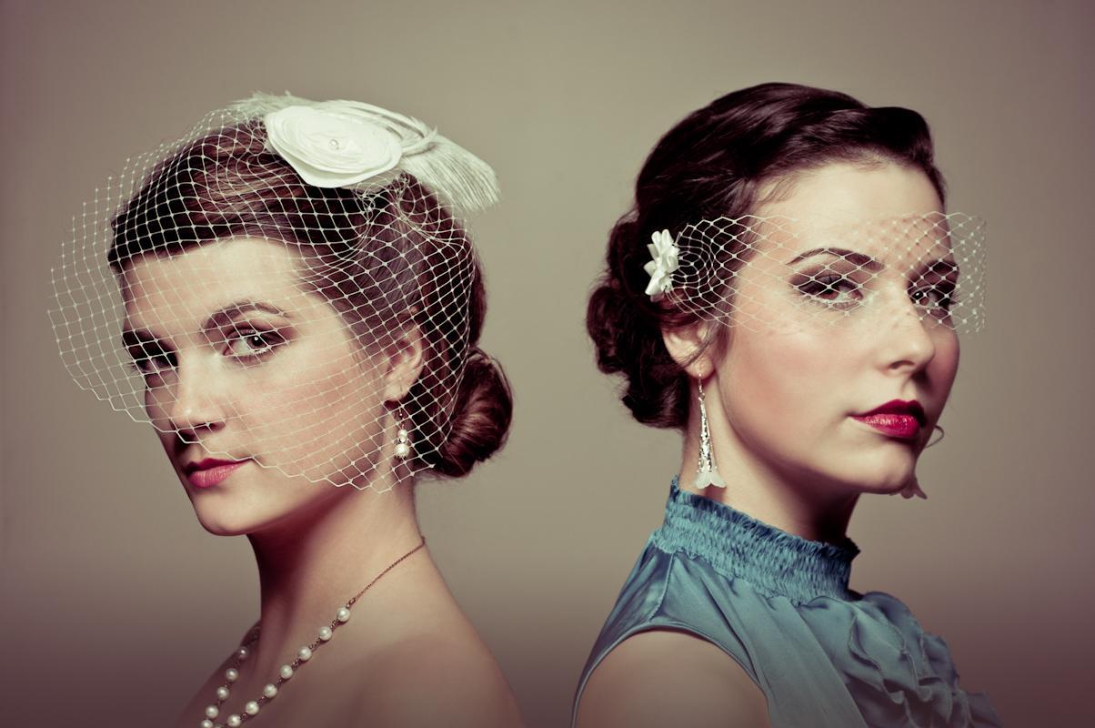 Masque & Angled Bridal Veils