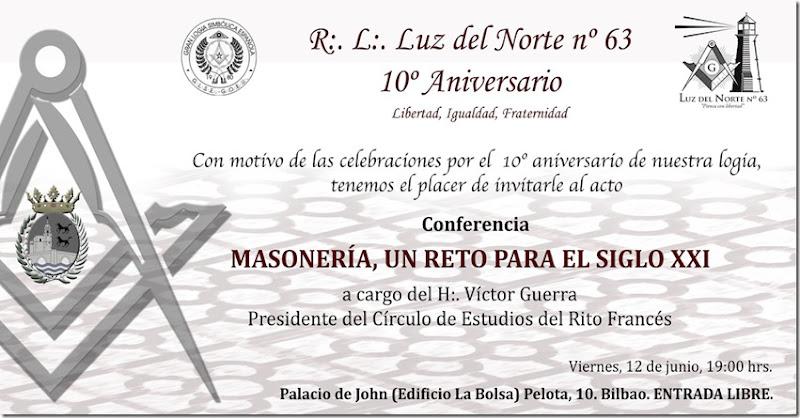 Invitación 10º Aniversario Conferencia