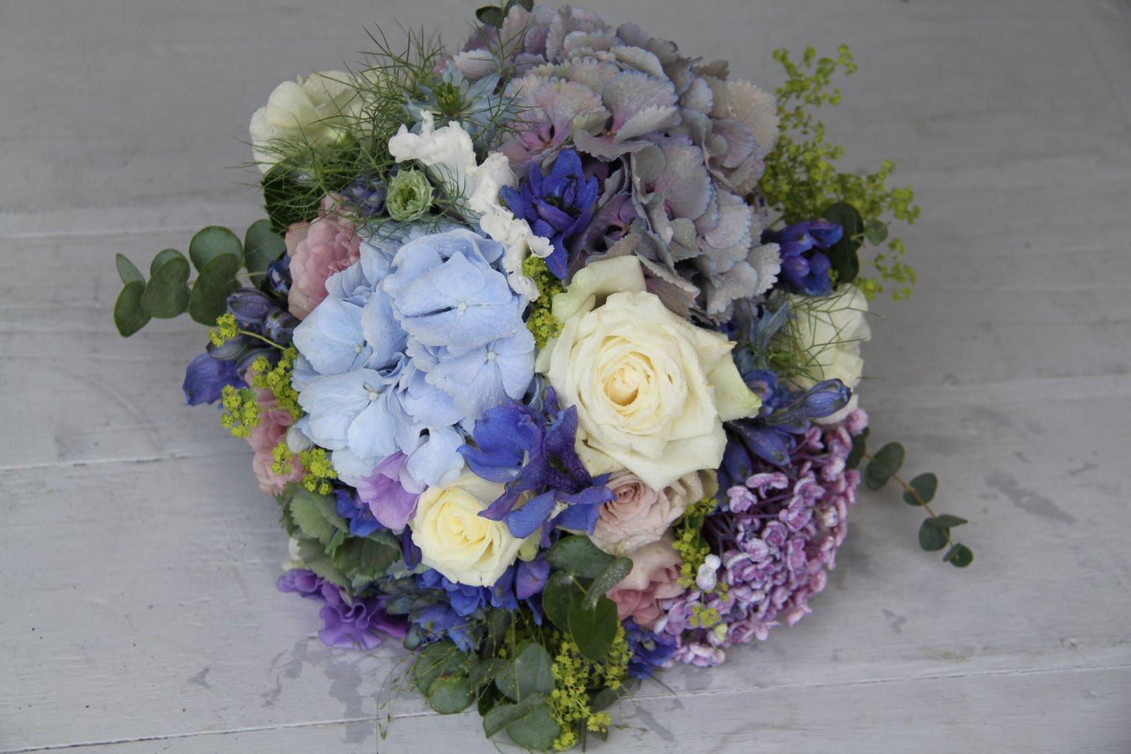 blue orchids wedding bouquet