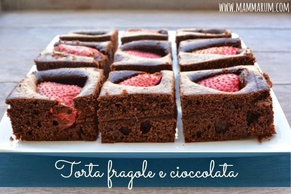 Torta fragole e cioccolata2