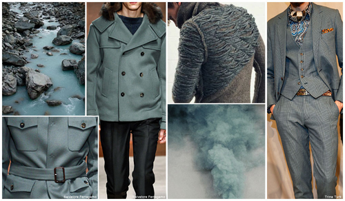 Smokey Green-Greys - F/W Color Trends [men's fashion]