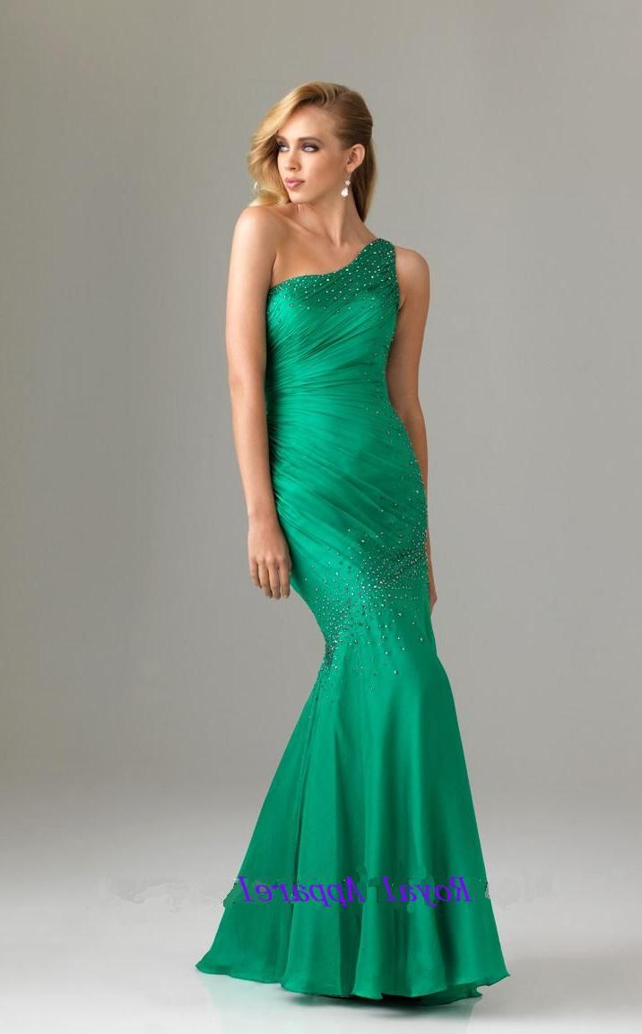 One Shoulder Mermaid Evening