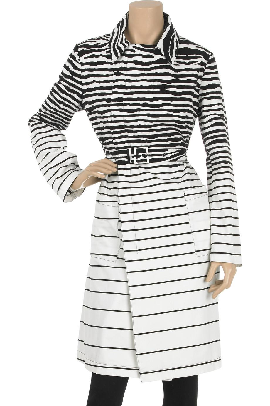 McQ Zebra stripe trench