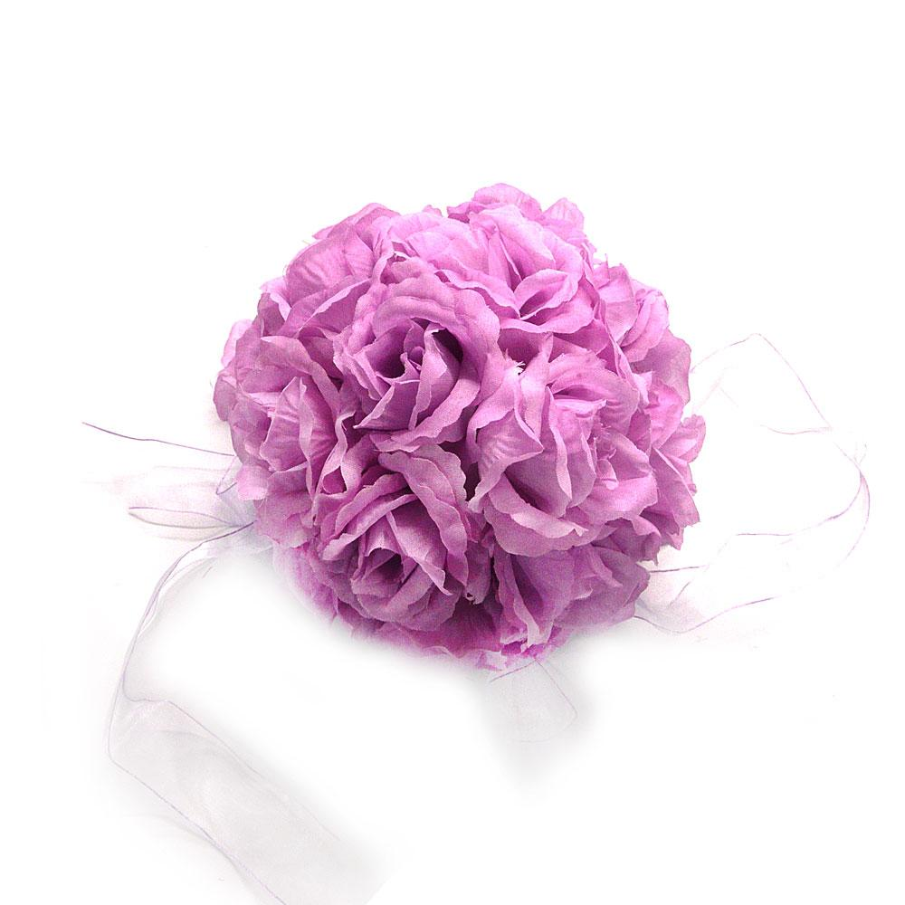 Purple Silk Kissing Pomander