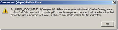 tidak dapat compress file