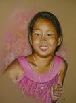 Jeune fille,  pastel sec, 18po X 14po