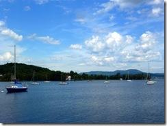 Several sail boats