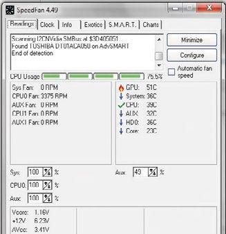 speedfan tool windows