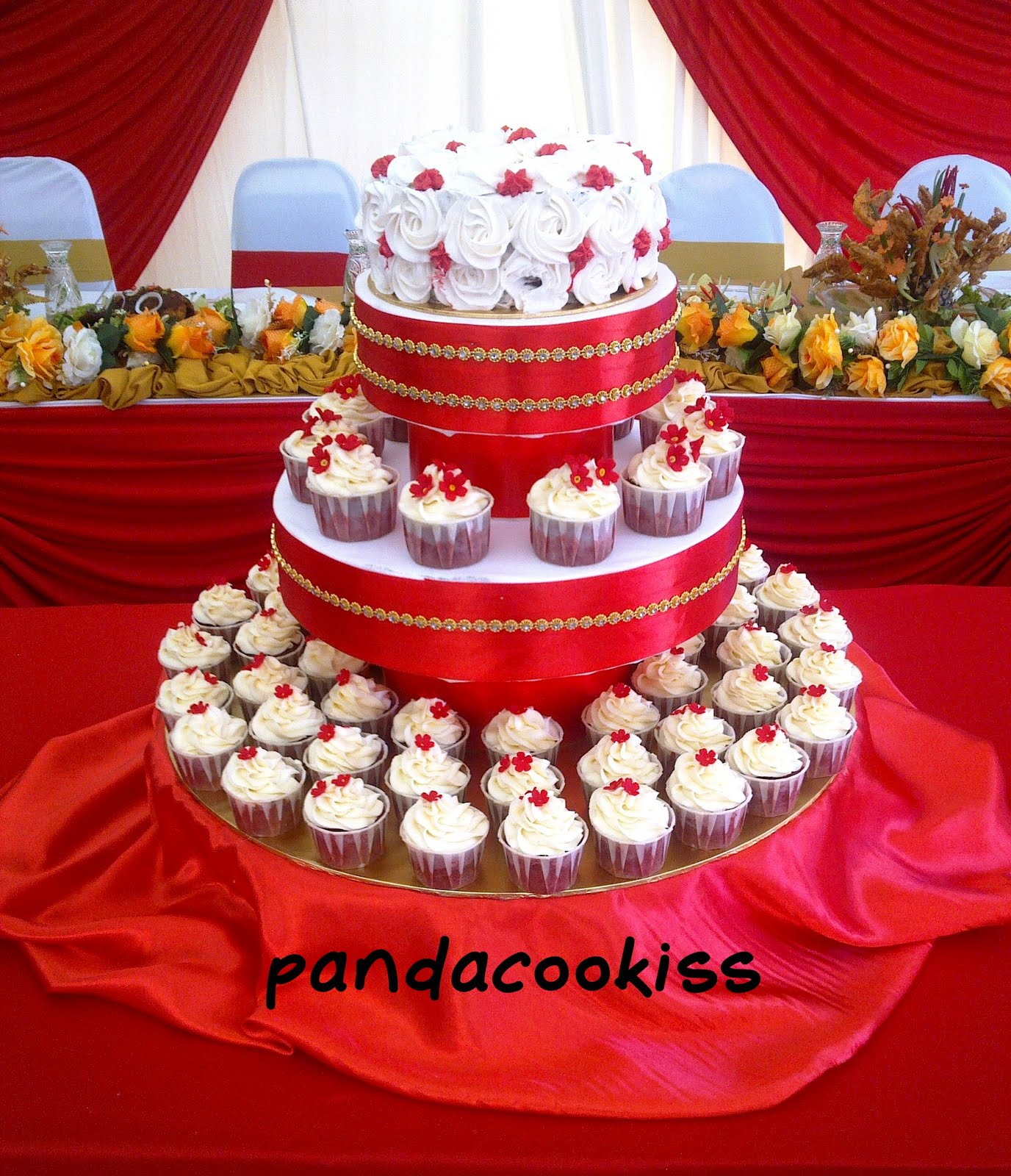 chocolate wedding cake with
