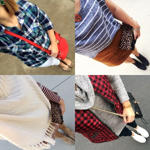 october favorites, plaid, leopard, kendra scott, faux suede, mom style