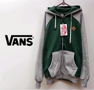 Jaket Vans grey and green