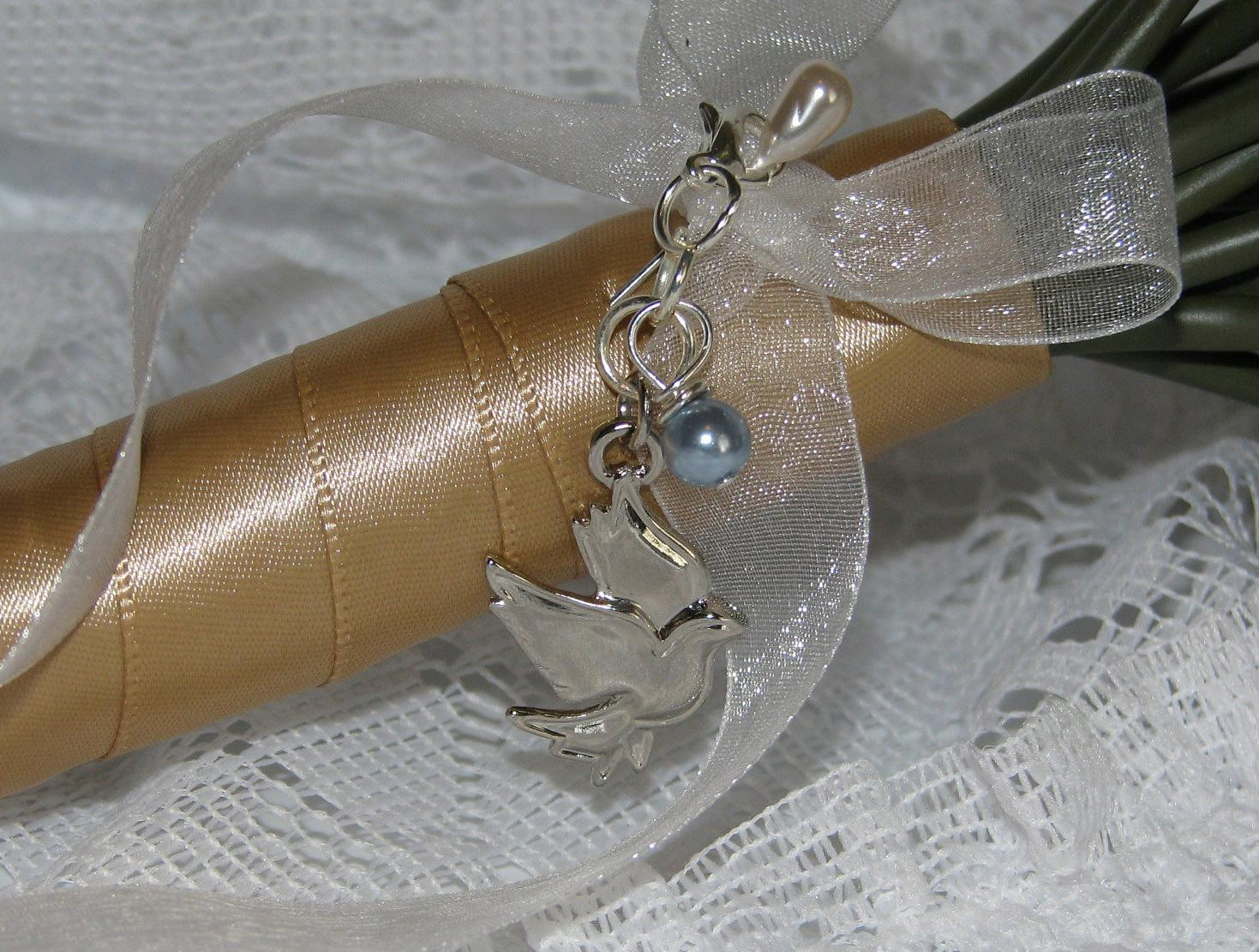Silver Dove Bridal Bouquet