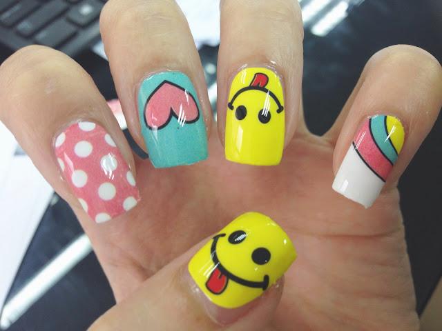Emoji Nail Art Nail Wrap MDS1005
