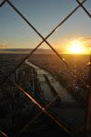 Sonnenuntergang vom Eiffelturm aus betrachtet