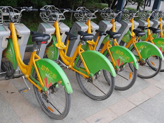 Zhuzhou city bicycles with two seats