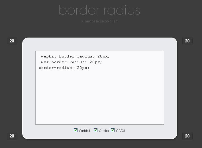 Gerador border-radius