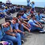 Scouts y Rovers en la inauguración del Festival