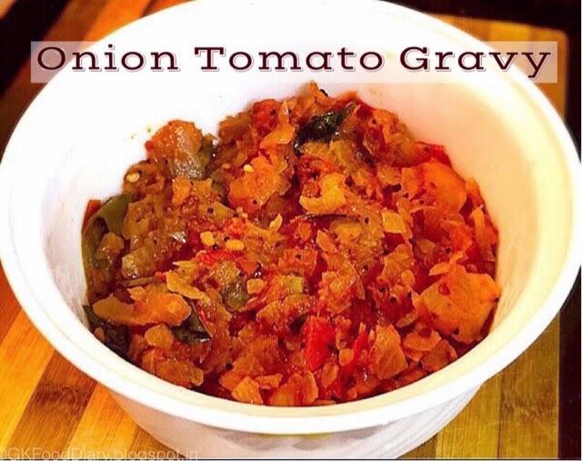 Onion Tomato Gravy Recipe | Side dish For Chapati/Roti