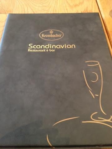 The Menu at Scandanavian Restaurant and Bar, Reykjavic