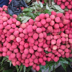 Lychees by Shishir Desai - Nature Up Close Gardens & Produce ( pwcvegetablegarden )