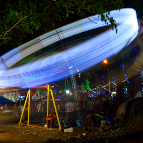 Spinning Wheel by Diliban P - Abstract Light Painting ( wheel, spinning, night, painting, light )