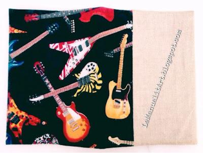 forrar cuadernos con guitarras